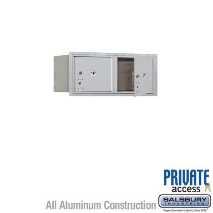 Recessed Mounted 4C Horizontal Mailbox (Includes Master Commercial Locks) - 3 Door High Unit (13 Inches) - Double Column - Stand-Alone Parcel Locker - 2 PL3's - Front Loading - Private Access