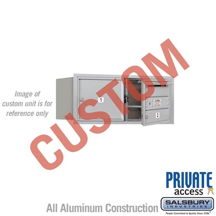 Recessed Mounted 4C Horizontal Mailbox - 3 Door High Unit (13 Inches) - Double Column - Custom - Front Loading - Private Access