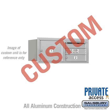 Custom Recessed Mounted 4C Horizontal Mailbox - 3 Door High Unit (13 Inches) - Double Column - Custom - Rear Loading - Private Access