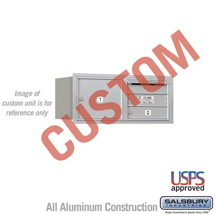 Custom Recessed Mounted 4C Horizontal Mailbox - 3 Door High Unit (13 Inches) - Double Column - Custom - Rear Loading - USPS Access