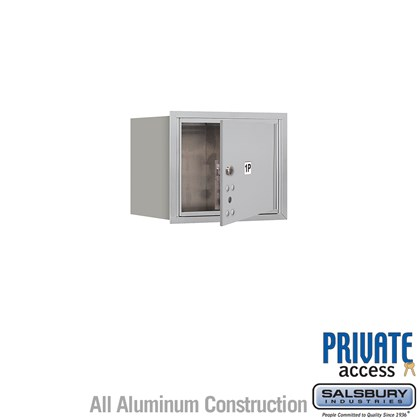 Recessed Mounted 4C Horizontal Mailbox (Includes Master Commercial Lock) - 3 Door High Unit (13 Inches) - Single Column - Stand-Alone Parcel Locker - 1 PL3 - Front Loading - Private Access