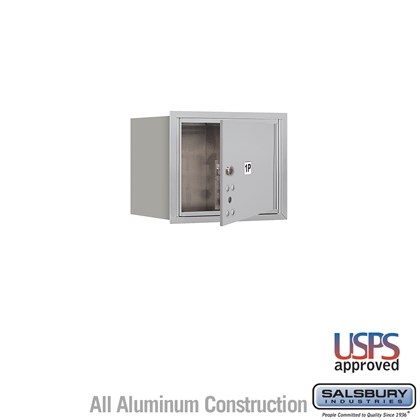 Recessed Mounted 4C Horizontal Mailbox - 3 Door High Unit (13 Inches) - Single Column - Stand-Alone Parcel Locker - 1 PL3 - Aluminum - Front Loading - USPS Access