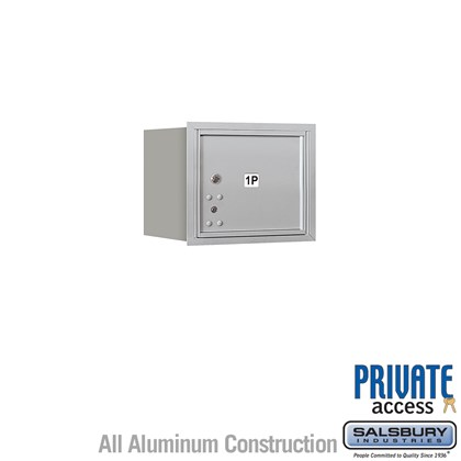 Recessed Mounted 4C Horizontal Mailbox (Includes Master Commercial Lock) - 3 Door High Unit (13 Inches) - Single Column - Stand-Alone Parcel Locker - 1 PL3 - Rear Loading - Private Access