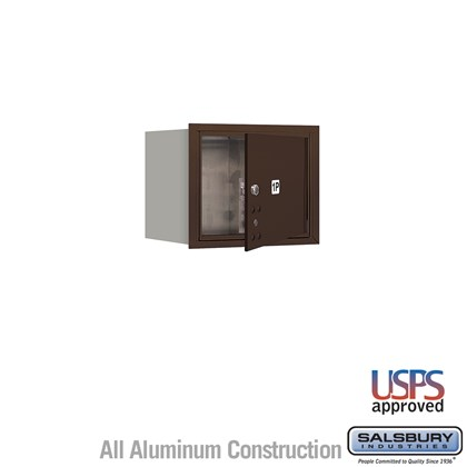 Recessed Mounted 4C Horizontal Mailbox - 3 Door High Unit (13 Inches) - Single Column - Stand-Alone Parcel Locker - 1 PL3 - Bronze - Front Loading - USPS Access