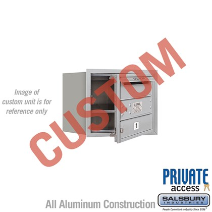 Recessed Mounted 4C Horizontal Mailbox - 3 Door High Unit (13 Inches) - Single Column - Custom - Front Loading - Private Access