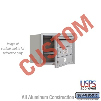 Custom Recessed Mounted 4C Horizontal Mailbox - 3 Door High Unit (13 Inches) - Single Column - Custom - Front Loading - USPS Access