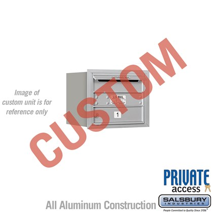 Recessed Mounted 4C Horizontal Mailbox - 3 Door High Unit (13 Inches) - Single Column - Custom - Rear Loading - Private Access