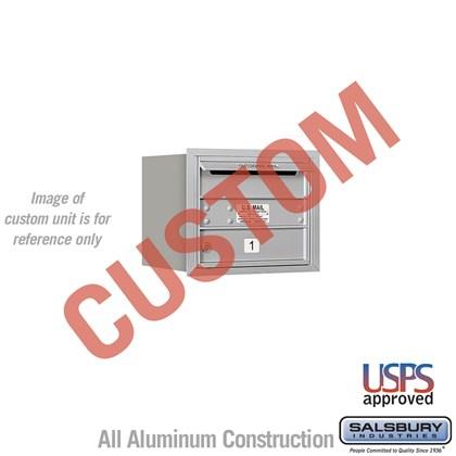 Custom Recessed Mounted 4C Horizontal Mailbox - 3 Door High Unit (13 Inches) - Single Column - Custom - Rear Loading - USPS Access