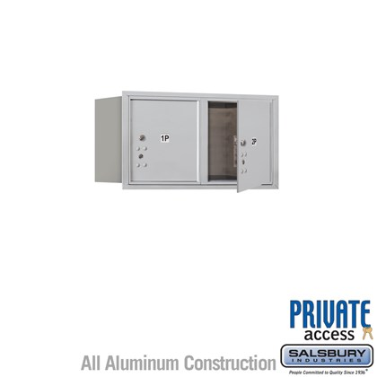 Recessed Mounted 4C Horizontal Mailbox (Includes Master Commercial Locks) - 4 Door High Unit (16 1/2 Inches) - Double Column - Stand-Alone Parcel Locker - 2 PL4's - Front Loading - Private Access