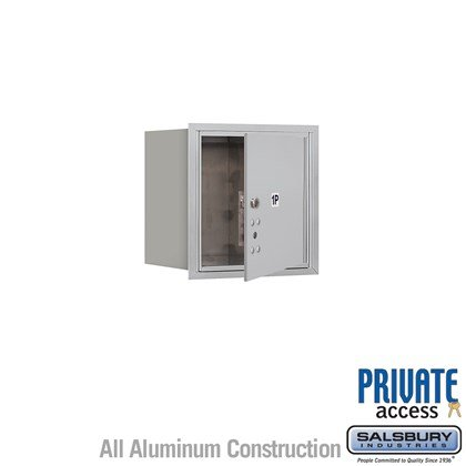 Recessed Mounted 4C Horizontal Mailbox (Includes Master Commercial Lock) - 4 Door High Unit (16 1/2 Inches) - Single Column - Stand-Alone Parcel Locker - 1 PL4 - Front Loading - Private Access