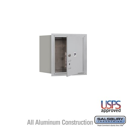 Recessed Mounted 4C Horizontal Mailbox - 4 Door High Unit (16 1/2 Inches) - Single Column - Stand-Alone Parcel Locker - 1 PL4 - Aluminum - Front Loading - USPS Access