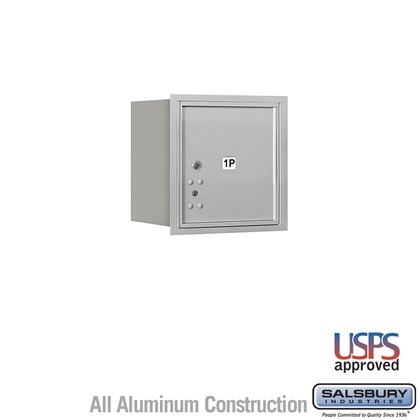 Recessed Mounted 4C Horizontal Mailbox - 4 Door High Unit (16 1/2 Inches) - Single Column - Stand-Alone Parcel Locker - 1 PL4 - Aluminum - Rear Loading - USPS Access