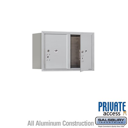 Recessed Mounted 4C Horizontal Mailbox (Includes Master Commercial Locks) - 5 Door High Unit (20 Inches) - Double Column - Stand-Alone Parcel Locker - 2 PL5's - Front Loading - Private Access