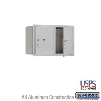 Recessed Mounted 4C Horizontal Mailbox - 5 Door High Unit (20 Inches) - Double Column - Stand-Alone Parcel Locker - 2 PL5's - Front Loading - USPS Access