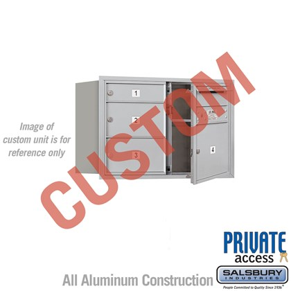 Recessed Mounted 4C Horizontal Mailbox - 5 Door High Unit (20 Inches) - Double Column - Custom - Front Loading - Private Access