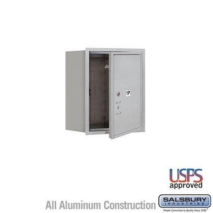 Recessed Mounted 4C Horizontal Mailbox - 5 Door High Unit (20 Inches) - Single Column - Stand-Alone Parcel Locker - 1 PL5 - Front Loading - USPS Access