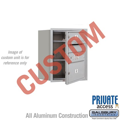 Recessed Mounted 4C Horizontal Mailbox - 5 Door High Unit (20 Inches) - Single Column - Custom - Front Loading - Private Access