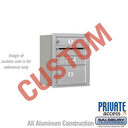 Recessed Mounted 4C Horizontal Mailbox - 5 Door High Unit (20 Inches) - Single Column - Custom - Rear Loading - Private Access