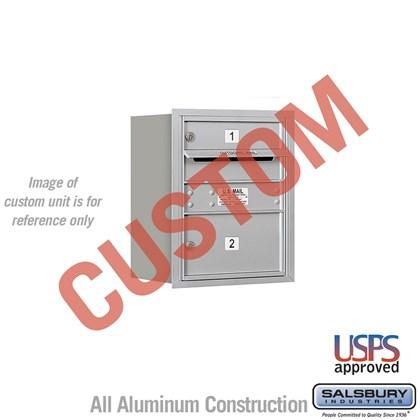 Custom Recessed Mounted 4C Horizontal Mailbox - 5 Door High Unit (20 Inches) - Single Column - Custom - Rear Loading - USPS Access