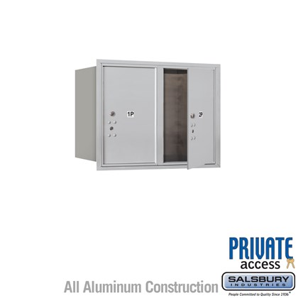 Recessed Mounted 4C Horizontal Mailbox (Includes Master Commercial Locks) - 6 Door High Unit (23 7/8 Inches) - Double Column - Stand-Alone Parcel Locker - 2 PL6's - Front Loading - Private Access