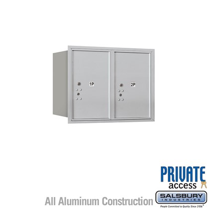 Recessed Mounted 4C Horizontal Mailbox (Includes Master Commercial Locks) - 6 Door High Unit (23 1/2 Inches) - Double Column - Stand-Alone Parcel Locker - 2 PL6's - Rear Loading - Private Access