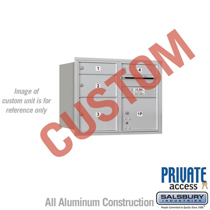 Recessed Mounted 4C Horizontal Mailbox - 6 Door High Unit (23 1/2 Inches) - Double Column - Custom - Rear Loading - Private Access