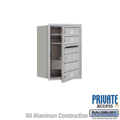 Recessed Mounted 4C Horizontal Mailbox (includes Master Commercial Locks) - 6 Door High Unit (23-7/8 Inches) - Single Column - 3 MB1 Doors - Front Loading - Private Access