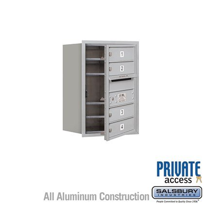 Recessed Mounted 4C Horizontal Mailbox (Includes Master Commercial Lock) - 6 Door High Unit (23 7/8 Inches) - Single Column - 4 MB1 Doors - Front Loading - Private Access