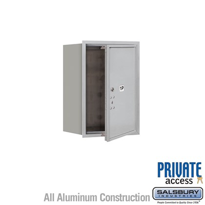 Recessed Mounted 4C Horizontal Mailbox (Includes Master Commercial Lock) - 6 Door High Unit (23 1/2 Inches) - Single Column - Stand-Alone Parcel Locker - 1 PL6 - Front Loading - Private Access