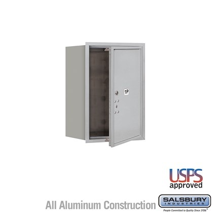 Recessed Mounted 4C Horizontal Mailbox - 6 Door High Unit (23 1/2 Inches) - Single Column - Stand-Alone Parcel Locker - 1 PL6 - Front Loading - USPS Access