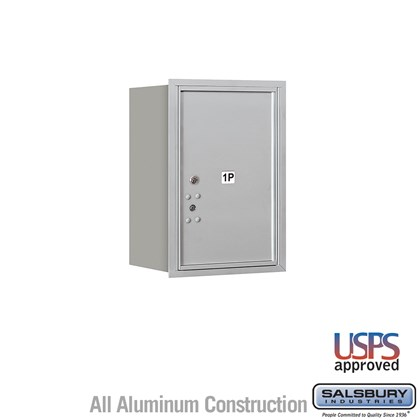 Recessed Mounted 4C Horizontal Mailbox - 6 Door High Unit (23 1/2 Inches) - Single Column - Stand-Alone Parcel Locker - 1 PL6 - Rear Loading - USPS Access