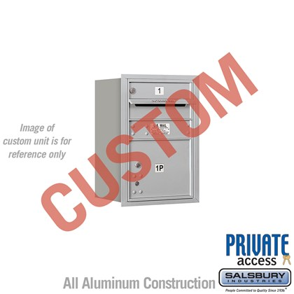 Recessed Mounted 4C Horizontal Mailbox - 6 Door High Unit (23 1/2 Inches) - Single Column - Custom - Rear Loading - Private Access