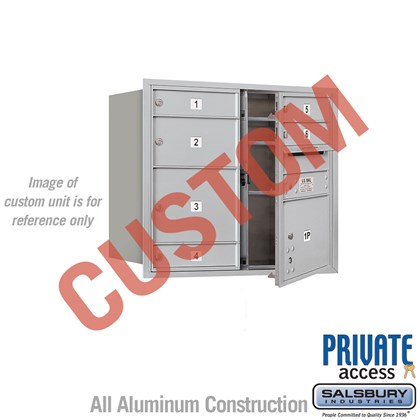 Custom Recessed Mounted 4C Horizontal Mailbox - 7 Door High Unit (27 Inches) - Double Column - Custom - Front Loading - Private Access