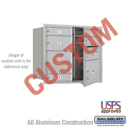 Custom Recessed Mounted 4C Horizontal Mailbox - 7 Door High Unit (27 Inches) - Double Column - Custom - Front Loading - USPS Access