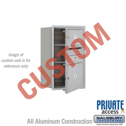 Custom Recessed Mounted 4C Horizontal Mailbox - 7 Door High Unit (27 Inches) - Single Column - Custom - Front Loading - Private Access