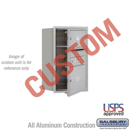 Custom Recessed Mounted 4C Horizontal Mailbox - 7 Door High Unit (27 Inches) - Single Column - Custom - Front Loading - USPS Access