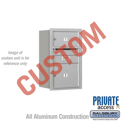 Custom Recessed Mounted 4C Horizontal Mailbox - 7 Door High Unit (27 Inches) - Single Column - Custom - Rear Loading - Private Access