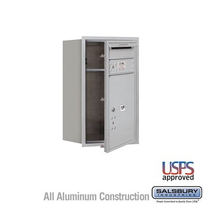 Recessed Mounted 4C Horizontal Mailbox - 7 Door High Unit (27 Inches) - Single Column - Stand-Alone Parcel Locker - 1 PL5 with Outgoing Mail Compartment - Front Loading - USPS Access