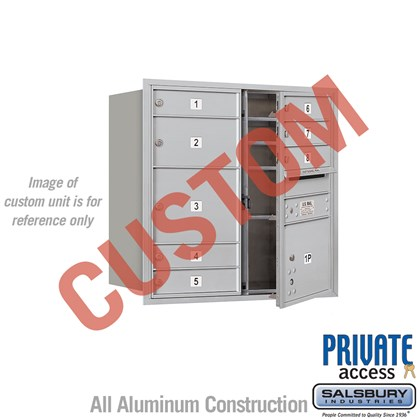 Custom Recessed Mounted 4C Horizontal Mailbox - 8 Door High Unit (30 1/2 Inches) - Double Column - Custom - Front Loading - Private Access