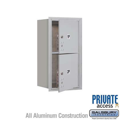 Recessed Mounted 4C Horizontal Mailbox (Includes Master Commercial Locks) - 8 Door High Unit (30 1/2 Inches) - Single Column - Stand-Alone Parcel Locker - 2 PL4's - Front Loading - Private Access