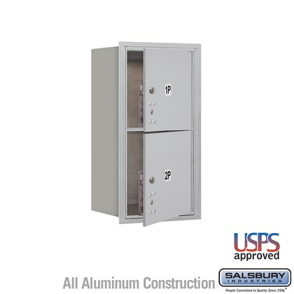 Recessed Mounted 4C Horizontal Mailbox - 8 Door High Unit (30 1/2 Inches) - Single Column - Stand-Alone Parcel Locker - 2 PL4's - Front Loading - USPS Access
