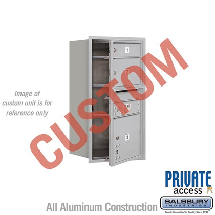 Custom Recessed Mounted 4C Horizontal Mailbox - 8 Door High Unit (30 1/2 Inches) - Single Column - Custom - Front Loading - Private Access
