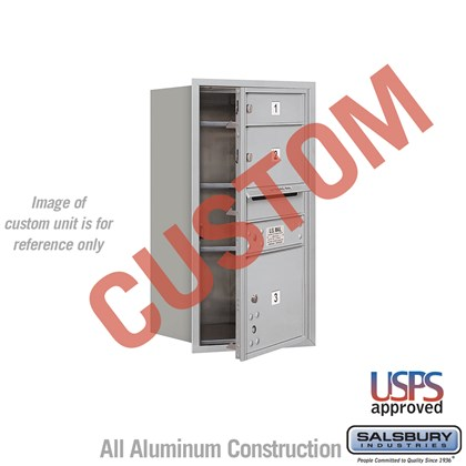 Custom Recessed Mounted 4C Horizontal Mailbox - 8 Door High Unit (30 1/2 Inches) - Single Column - Custom - Front Loading - USPS Access