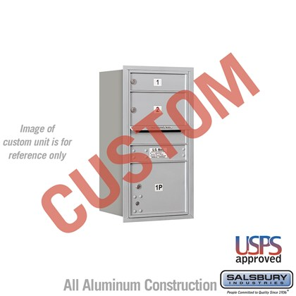 Custom Recessed Mounted 4C Horizontal Mailbox - 8 Door High Unit (30 1/2 Inches) - Single Column - Custom - Rear Loading - USPS Access