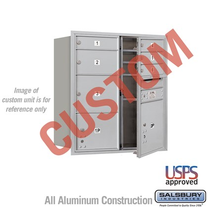 Custom Recessed Mounted 4C Horizontal Mailbox - 9 Door High Unit (34 Inches) - Double Column - Custom - Front Loading - USPS Access