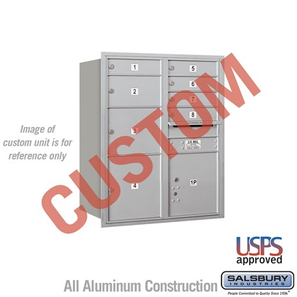 Recessed Mounted 4C Horizontal Mailbox - 10 Door High Unit (37 1/2 Inches) - Double Column - Custom - Rear Loading - USPS Access