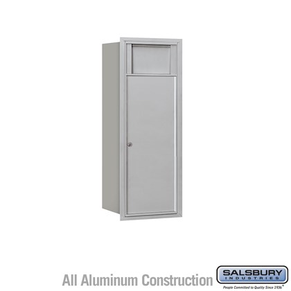 Recessed Mounted 4C Horizontal Receptacle Bin - 10 Door High Unit (37 1/2 Inches) - Single Column - 1 Receptacle Bin - Rear Access