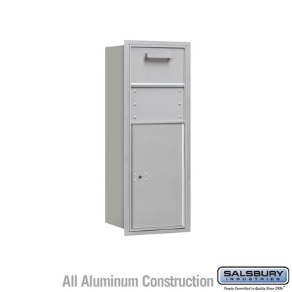 Recessed Mounted 4C Horizontal Collection Box - 10 Door High Unit (37 1/2 Inches) - Single Column - Rear Access