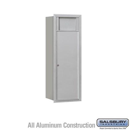 Recessed Mounted 4C Horizontal Receptacle Bin - 11 Door High Unit (41 Inches) - Single Column - 1 Receptacle Bin - Front Access