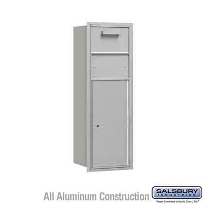 Recessed Mounted 4C Horizontal Collection Box - 11 Door High Unit (41 Inches) - Single Column - Rear Access